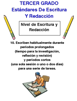 Common Core ELA Posters Grade 3 in Spanish w/ images