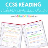 CCSS Reading Student Reference Sheets