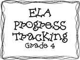 Common Core ELA Progress Tracking-Grade 4