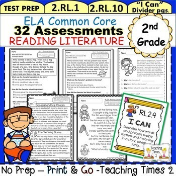 2nd Grade Common Core ELA Assessments - Reading Literature by ...