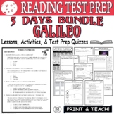 Common Core ELA Reading Test Prep Lesson BUNDLE: Galileo (Informational Text)