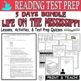 Common Core ELA Reading Test Prep Lesson BUNDLE: Life on the Mississippi Twain