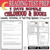 Common Core ELA Reading Test Prep Lesson BUNDLE Paired Passages Child/Books
