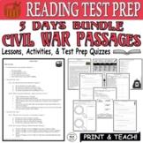 Common Core ELA Reading Test Prep Lesson BUNDLE: Paired Passages (Civil War)