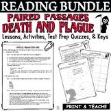 Common Core ELA Reading Test Prep Lesson BUNDLE: Paired Passages Death/Plague