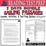 Common Core ELA Reading Test Prep Lesson BUNDLE Paired Passages (Sailing)