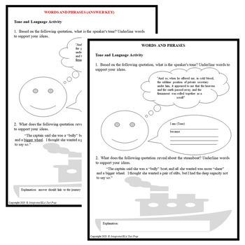Common Core ELA Reading Test Prep Lesson BUNDLE: Roughing It by Mark Twain