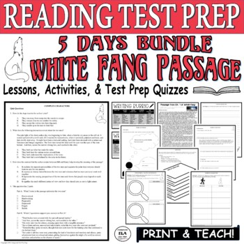 Common Core ELA Reading Test Prep Lesson BUNDLE: White Fang by Jack London