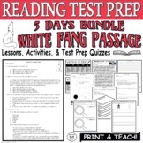 Common Core ELA Reading Test Prep Lesson BUNDLE: White Fang by Jack London