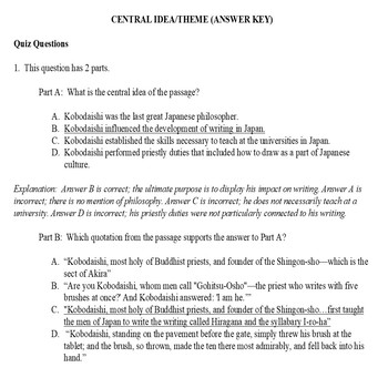 Common Core ELA Test Prep 5 Days of Lessons: Japanese Tale (Informational Text)