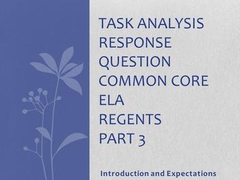 Common Core ELA Regents Part 3 - Introductions