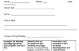 Common Core ELA Regents Part 3 Text Analysis Response Graphic Organizer