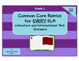 Common Core ELA Rubrics:  Grade 2