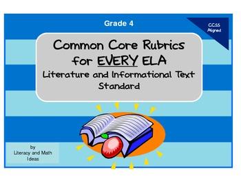 Common Core ELA Rubrics:  Grade 4