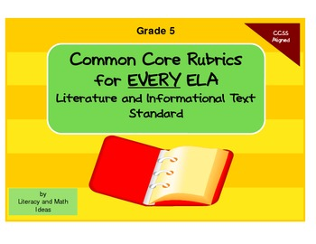 Common Core ELA Rubrics:  Grade 5