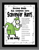 Common Core ELA Scavenger Hunts for Second Grade
