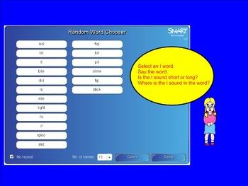Vowels: Vowel I (Smartboard)