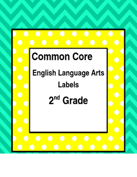 Common Core ELA Standard Labels - 2nd Grade