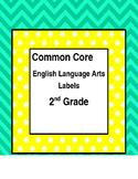 Common Core ELA Standard Labels - 2nd Grade