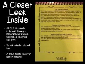 Common Core ELA Standards 11th & 12th Grade Flipbook