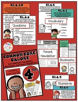 4th Grade Common Core ELA Reading Literature and Informational Text