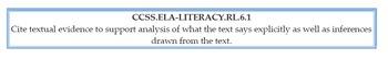 Common Core ELA Standards 6th Grade Postings