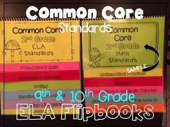 Common Core ELA Standards 9th & 10th Grade Flipbook