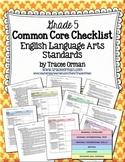 ELA Common Core Standards Checklists Grade 5