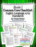 Common Core ELA Standards Checklists Grade 7 Editable