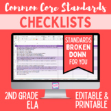 Common Core Checklist - Second Grade ELA