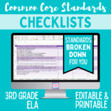 Common Core Checklist - Third Grade ELA