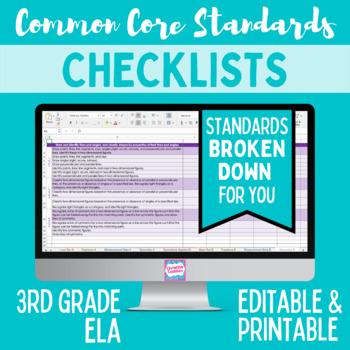 Common Core Checklist - Third Grade ELA