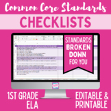 Common Core Checklist - First Grade ELA