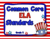 Common Core ELA Standards Posters Grade 5 (Red, White, and Blue Patriotic Theme)