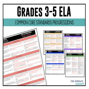 Common Core ELA Standards Progression Grades 3-5