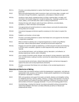 Common Core ELA Standards for 8th grade