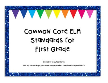 Common Core ELA Standards for First Grade