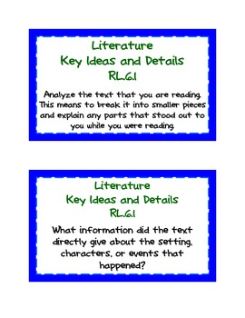Common Core ELA Task Cards:  Grade 6