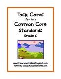 Common Core ELA Task Cards:  Grade 6
