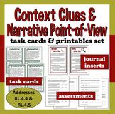 ELA Task Cards + Printables set –Narrative POV & Context Clues