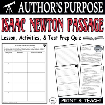 Author's Purpose Lesson Plan Worksheets & Teaching Resources | TpT