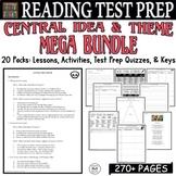 ELA Test Prep Central Idea MEGA BUNDLE: 19 Lessons/Quizzes/Activities