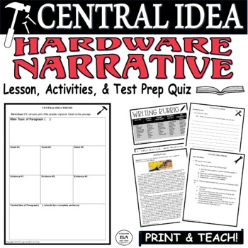 Common Core ELA Test Prep Central Idea Lesson: Hardware (Narrative)