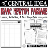 Common Core ELA Test Prep Central Idea Lesson: Isaac Newton