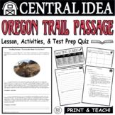 Common Core ELA Test Prep Central Idea Lesson: Leaving the Home Nest