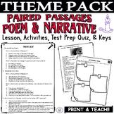 Common Core ELA Test Prep Central Idea Lesson: Paired Passages Poem/Narrative