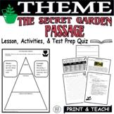 Common Core ELA Test Prep Central Idea Lesson:  The Secret Garden (Fiction)