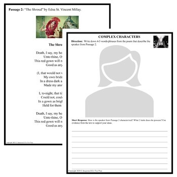 Common Core ELA Test Prep Characterization Lesson: Paired Passages Death/Plague