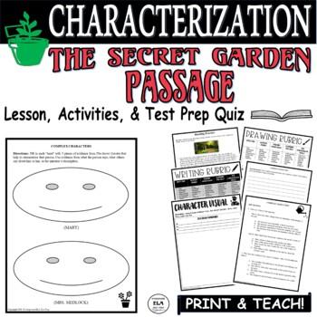Common Core ELA Test Prep Characterization Lesson:  The Secret Garden (Fiction)