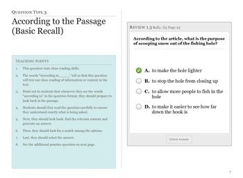 Common Core ELA Test Prep: Multiple Choice Question Types